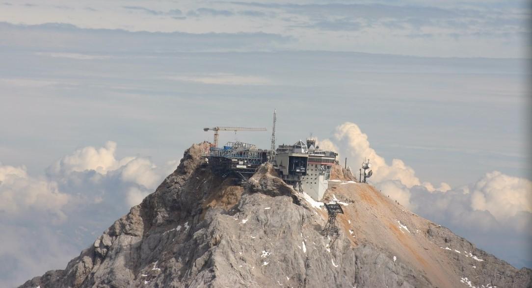Baustellen auf der Zugspitze