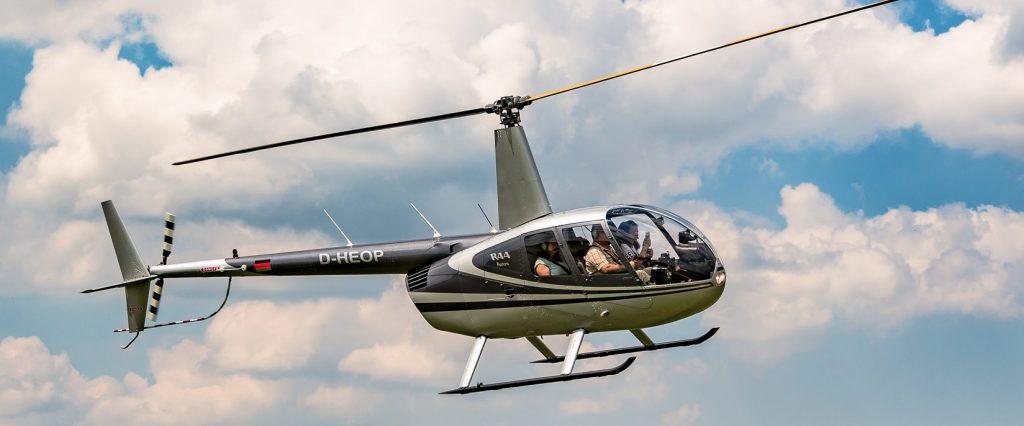Hubschrauber kurz vor der Landung